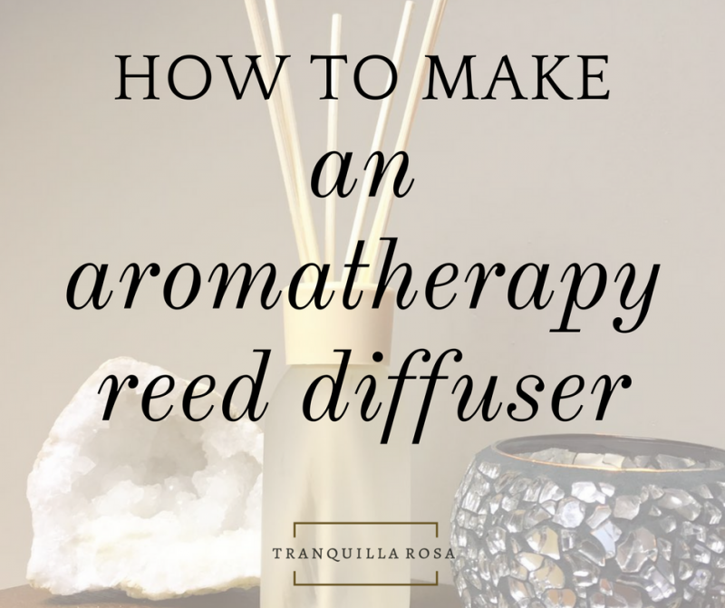 How to make an aromatherapy reed diffuser
